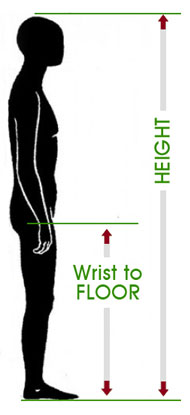 online fitting chart wrist to floor